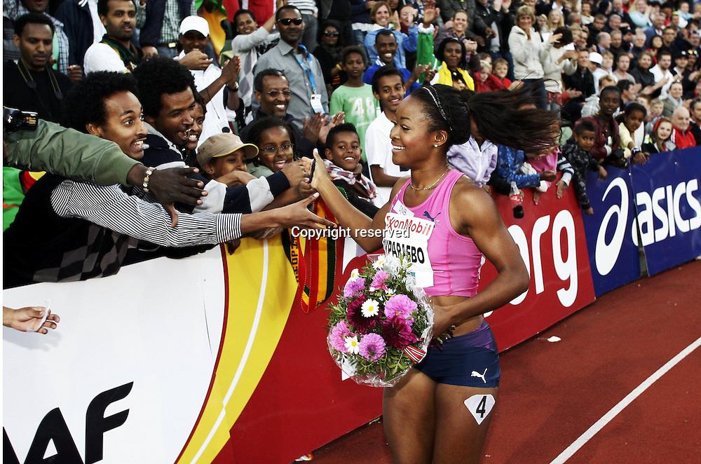 07.06.2012. Paris, France.   Diamond League Bislett Games Ezinne Okparaebo WINNER womens 100 metres