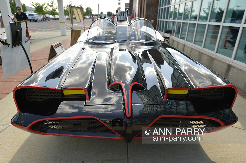 Garden City, New York. 15th June 2013. An iconic 1966 Batmobile is at the Eternal Con Pop Culture Expo, which was hosted by the Cradle of Aviation Museum of Long Island.