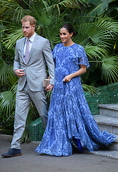 February 26, 2019 - Rabat, Morocco - Image licensed to i-Images Picture Agency. 25/02/2019. Rabat,Morocco.  Prince Harry and Meghan Markle, The Duke and Duchess of Sussex, arriving for an audience with  The King of Morocco in Rabat on day three of their tour of Morocco. (Credit Image: © i-Images via ZUMA Press)