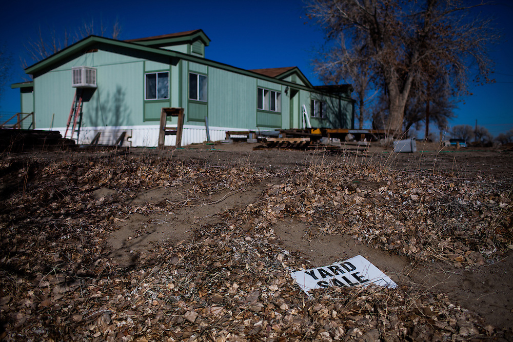 April Brune's former neighborhood in Fallon, Nevada, February 5, 2014.