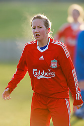 SKELMERSDALE, ENGLAND - Sunday, December 14, 2008: Liverpool's Linda Mathisen during the Women's FA Premier League match against Birmingham City at the Ashley Travel Stadium. (Photo by David Rawcliffe/Propaganda)