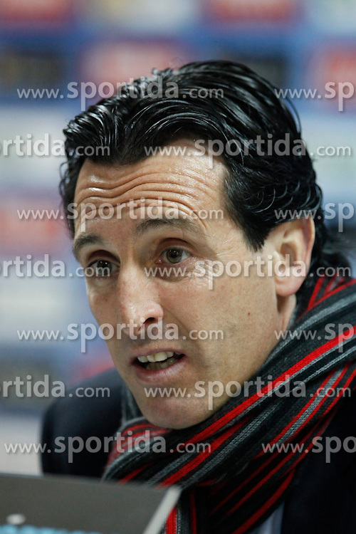 08.02.2015, Coliseum Alfonso Perez, Madrid, ESP, Primera Division, FC Getafe vs FC Sevilla, 22. Runde, im Bild Sevilla&acute;s coach Unai Emery speaks // uring the Spanish Primera Division 22nd round match between Getafe FC and Sevilla FC at the Coliseum Alfonso Perez in Madrid, Spain on 2015/02/08. EXPA Pictures &copy; 2015, PhotoCredit: EXPA/ Alterphotos/ Victor Blanco<br /> <br /> *****ATTENTION - OUT of ESP, SUI*****