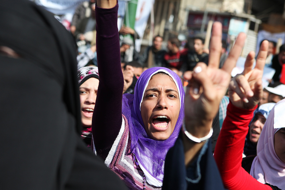 Hundreds of protesters remained at Tahrir Square calling for further changes to the government even days after Mubarak stepped down.