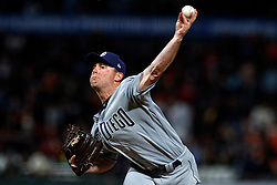 SAN FRANCISCO, CA - JUNE 12: Robbie Erlin #41 of the San Diego Padres pitches against the San Francisco Giants during the seventh inning at Oracle Park on June 12, 2019 in San Francisco, California. The San Francisco Giants defeated the San Diego Padres 4-2. (Photo by Jason O. Watson/Getty Images) *** Local Caption *** Robbie Erlin