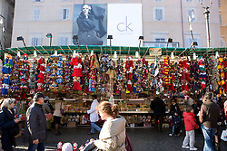 Piazza Navona and all the stalls during Christmas days