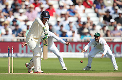 England's Keaton Jennings is bowled out by South Africa's Vernon Philander during day four of the Second Investec Test match at Trent Bridge, Nottingham.