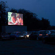 The 80s coming-of-age film, Stand by Me, was among one the features showing at Retro Drive-In Movies. Dublin, Ireland - March 23, 2020.