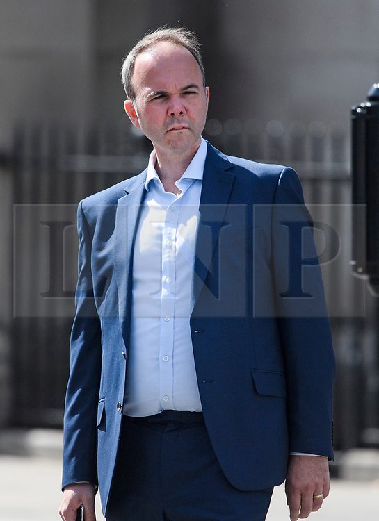 © Licensed to London News Pictures. 02/09/2019. London, UK. Former Downing Street Chief of Staff GAVIN BARWELL is seen in Westminster, London. British Prime Minister Boris Johnson will prorogue Parliament in the run up to Britain's planned Brexit deadline in an attempt to keep the option of a 'no deal' Brexit. Photo credit: Ben Cawthra/LNP