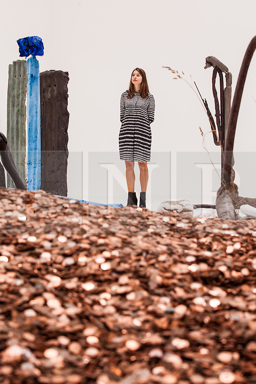 © Licensed to London News Pictures. 26/09/2016. London, UK. An installation by Michael Dean on show at Tate Britain as part of the Turner Prize exhibition. Anthea Hamilton, Helen Marten and Josephine Pryde are also shortlisted for the Turner Prize 2016, one of the most prestigious prizes in contemporary British art. Photo credit: Rob Pinney/LNP