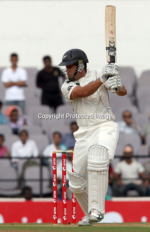 New Zealand batsman Rosse Taylor plays a shot during 3rd test match India vs New Zealand  Played at Vidarbha Cricket Association Stadium, Jamtha, Nagpur, 20, November 2010 (5-day match)