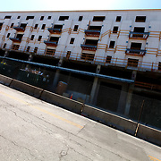 Construction progress of 51 Main luxury apartments at intersection of 51st and Main Streets, Kansas City, Missouri.