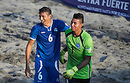 El Salvador team-mates Zavala and Ramos at the Copa Pilsener 2016.