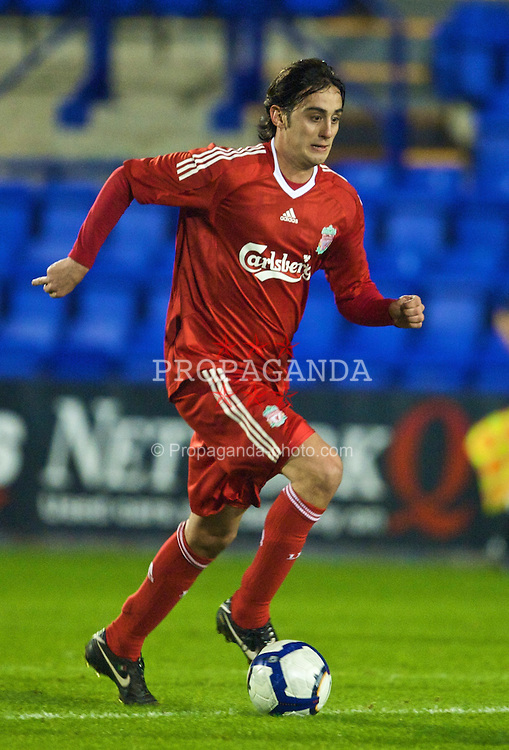 BIRKENHEAD, ENGLAND - Wednesday, October 21, 2009: Liverpool's Alberto Aquilani in action against Sunderland during the FA Premiership Reserves League (Northern Division) match at Prenton Park. (Photo by: David Rawcliffe/Propaganda)