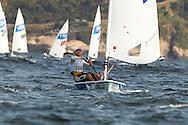2016 Olympic Sailing Games-Rio-Brazil, ANP Copyright Olympische Spelen Zeilen, Laser, ls-NED- Rutger Van Schaardenburg- Laser Standaard, Dag 1, race 1