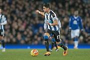 Ayoze Perez (Newcastle United) during the Barclays Premier League match between Everton and Newcastle United at Goodison Park, Liverpool, England on 3 February 2016. Photo by Mark P Doherty.