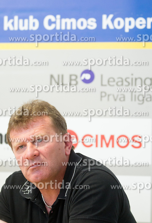 Fredi Radojkovic, head coach  at press conference of RK Cimos Koper about financial crisis in the club on May 22, 2013 in Arena Bonifika, Koper, Slovenia. (Photo By Vid Ponikvar / Sportida)