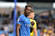 Portsmouth Midfielder, Jamal Lowe (10) goal scorer during the EFL Sky Bet League 1 match between Portsmouth and Oxford United at Fratton Park, Portsmouth, England on 18 August 2018.