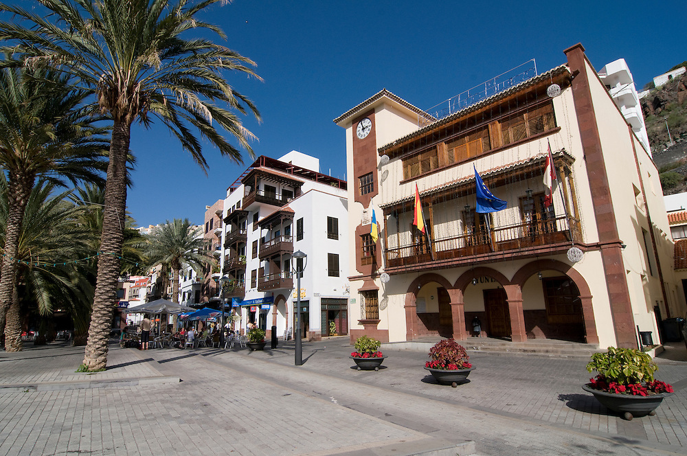 The capital of La Gomera, San Sebastian, La Gomera, Canary Islands, Spain