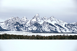 WY: Grand Teton National Park, Wyoming; in winter              .Photo Copyright: Lee Foster, lee@fostertravel.com, www.fostertravel.com, (510) 549-2202.Image: wygran223