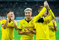 Gonzalo Castro of Borussia Dortmund, Kevin Kampl of Borussia Dortmund after the football match between WAC Wolfsberg (AUT) and  Borussia Dortmund (GER) in First leg of Third qualifying round of UEFA Europa League 2015/16, on July 30, 2015 in Wörthersee Stadion, Klagenfurt, Austria. Photo by Vid Ponikvar / Sportida