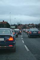 Evening traffic, Dublin, Ireland