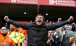 Huddersfield fans celebrate- Photo mandatory by-line: Matt Bunn/JMP  - Tel: Mobile:07966 386802 13/04/2013 - Wolverhampton Wanderers v Huddersfield Town - SPORT - FOOTBALL - Championship -  Wolverhampton - Molinuex-