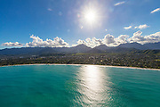 Aerial, Kailua Beach, Kailua, Oahu, Hawaii