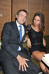 BEN GOLDSMITH and JEMIMA JONES at the Pig Business Fundraiser, Sake No Hana, St.James's, London on 26th September 2012.