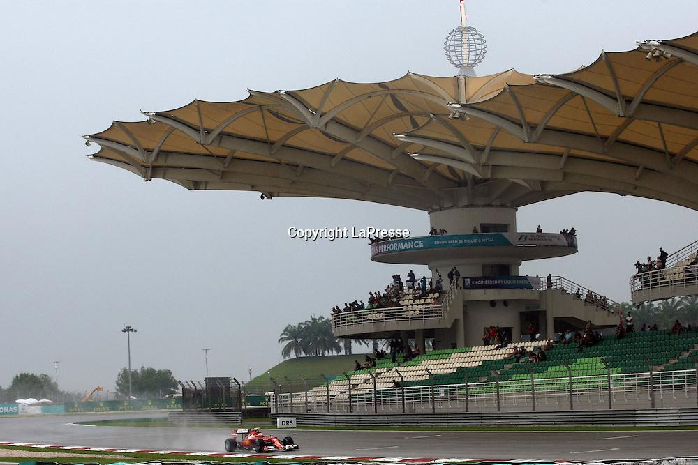 &copy; Photo4 / LaPresse<br /> 29/3/2014 Sepang, Malaysia<br /> Sport <br /> Grand Prix Formula One Malaysia 2014<br /> In the pic: <br /> Kimi Raikkonen (FIN) Scuderia Ferrari F14-T