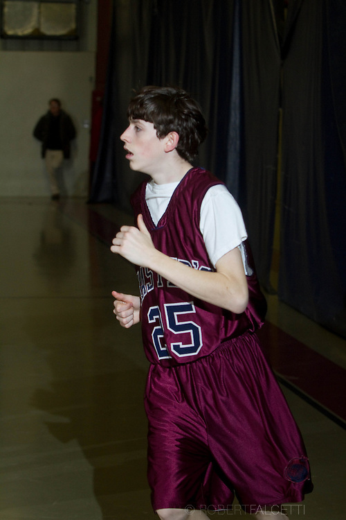 The Master's School, West Simsbury, CT. 2010-2011. Boys Middle School basketball.  (Photo by Robert Falcetti). .