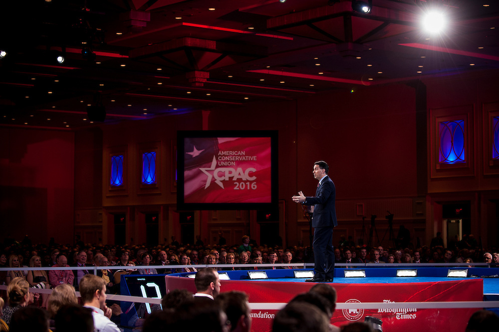 Wisconsin Governor, Scott Walker (R),  speaks during the American Conservative Union's 43nd Annual Conservative Political Action Conference (CPAC) at National Harbor, Maryland, USA, on March 3, 2016. CPAC is a political conference hosted by the American Conservative Union.