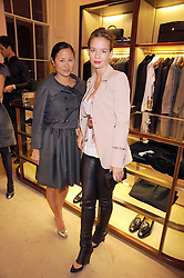 Left to right, LILLIAN VON STAUFFENBERG and MARISSA ANSHUTZ at a party to celebrate the publication of Shop Your Closet - the ultimate guide to organisingyour closet with style by Melanie Charlton-Fascitelli held at Asprey, New Bond Street, London on 16th September 2008.