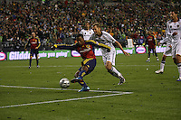 SEATTLE - NOVEMBER 22: Robbie Findley #10 of Real Salt Lake scores a goal. Real Salt Lake defeats Los Angeles Galaxy in the MLS Cup final at Qwest Field on November 22, 2009 in Seattle, Washington. (Photo by Tom Hauck)