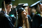 Megan Elaine Kapple participates in undergraduate commencement ceremonies. Photo by Ben Siegel