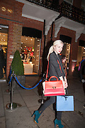 PORTIA FREEMAN, Smythson Sloane St. Store opening. London. 6 February 2012.