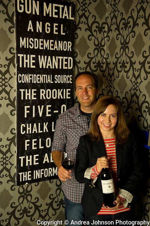 Jerry Riener & Jennifer Sullivan, owners Guardian Cellars, Woodinville, Washington