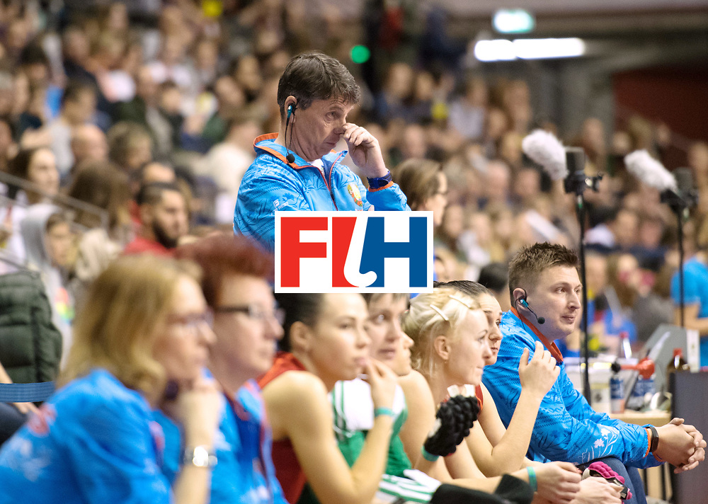 BERLIN - Indoor Hockey World Cup<br /> Bronze: Ukraine - Belarus<br /> foto: Herman Kruis<br /> WORLDSPORTPICS COPYRIGHT FRANK UIJLENBROEK
