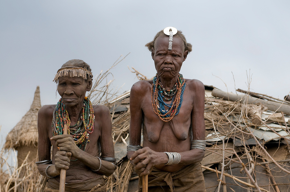 Old women from the Dasanech tribe, Omovalley,Ethiopia,Africa