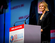AMSTERDAM - South African actress Charlize Theron opens the plenary session at the AIDS2018 congress in the Amsterdam Rai. robin utrecht