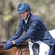 William Coleman (USA) and Don Dante at the Red Hills International Horse Trials in Tallahassee, Florida.