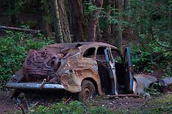 Abandoned Car, Stuart Island, Washington, US