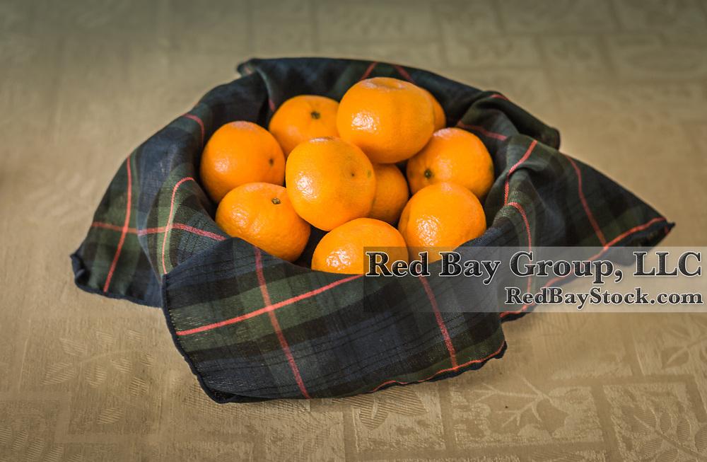 Mandarins in a basket.
