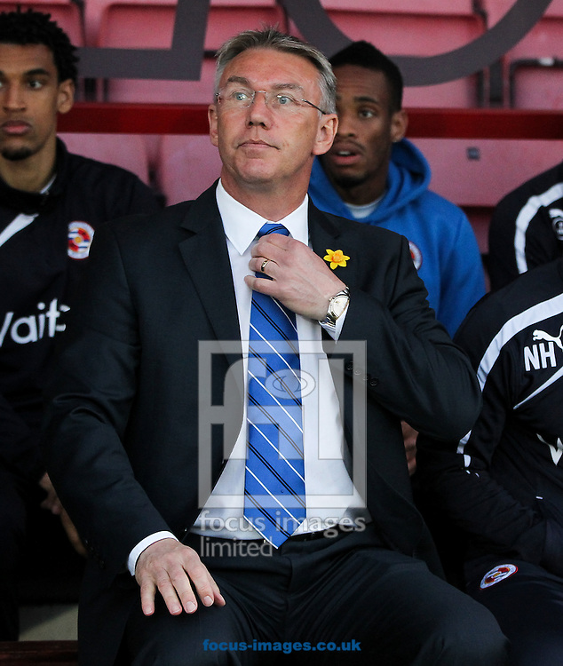 Reading manager Nigel Adkins before the Sky Bet Championship match at the Goldsands Stadium, Bournemouth<br /> Picture by Tom Smith/Focus Images Ltd 07545141164<br /> 08/04/2014