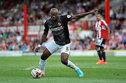 Charlton Athletic's Andre Bikey - Photo mandatory by-line: Patrick Khachfe/JMP - Mobile: 07966 386802 09/08/2014 - SPORT - FOOTBALL - Brentford - Griffin Park - Brentford v Charlton Athletic - Sky Bet Championship - First game of the season