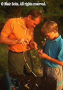 Fishing, Pennsylvania Outdoor recreation, Fishing Father and Son Catch Bass on PA Lake