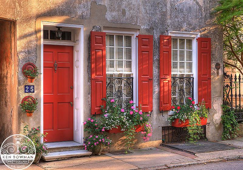 #25 Queen Street red door and window angle shot