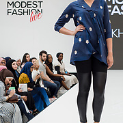 Khaadi showcases it latest collection Modest and beautiful at the Modest and Beautiful a Modest Fashion Live at The Atrium in Westfield London on June 24, 2018.