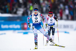 March 8, 2019 - –Stersund, Sweden - 190308 Fanqi Meng of China competes in the Women's 7.5 KM sprint during the IBU World Championships Biathlon on March 8, 2019 in Östersund..Photo: Johan Axelsson / BILDBYRÃ…N / Cop 245 (Credit Image: © Johan Axelsson/Bildbyran via ZUMA Press)