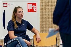 26-10-2019 NED: Talentteam Papendal - Sliedrecht Sport, Ede<br /> Round 4 of Eredivisie volleyball - Lynn Thijssen