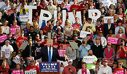 November 7, 2016 - Raleigh, North Carolina, U.S. - Republican Presidential candidate DONALD TRUMP speaks to his supporters at Dorton Arena. It's the final day before Election Day. (Credit Image: © Chuck Liddy/TNS via ZUMA Wire)